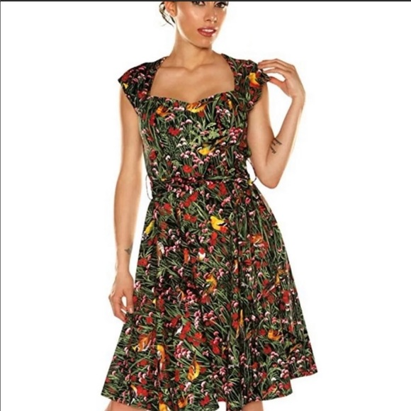 NWOT retrolicious WHAT A TWEET dress